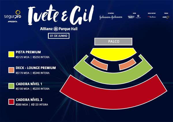 Ivete Sangalo e Gilberto Gil fazem show de estreia do Allianz Parque Hall, nesta sexta-feira, em São Paulo